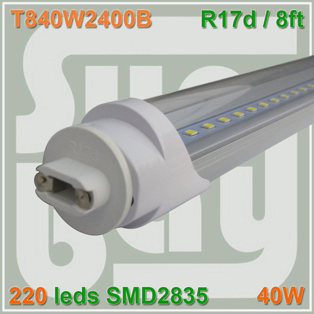 50pcs lot T8 font b LED b font font b TUBE b font 8ft 40W 110V