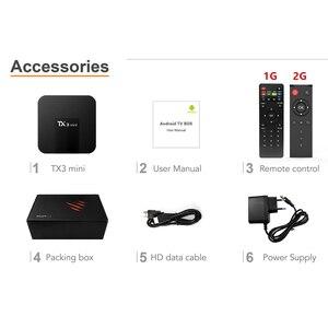 Image 5 - DQiDianZ Android 8.1 TX3mini Smart TV BOX Amlogic Quad Core Multimediale 2.4G Wifi KD schermo di Visualizzazione Dello Schermo TX3 MINI Set top Smart box