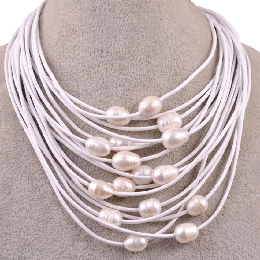 SALE FREE SHIPPING FASHION STYLE 16 22 MAGNET CLASP 15 ROW 10 12 MM SIMULATED PEARL