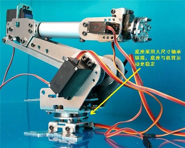 Wenhsin Abb Industrial Robot 698R Mechanical Arm 100% Alloy Manipulator 6-Axis Robot arm Rack with 6 Servos abb industrial robot a688 mechanical arm 100