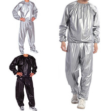 Running Cycling Sweat Track Sauna Suit Fitness Weight Loss Exercise Sport L 5XL