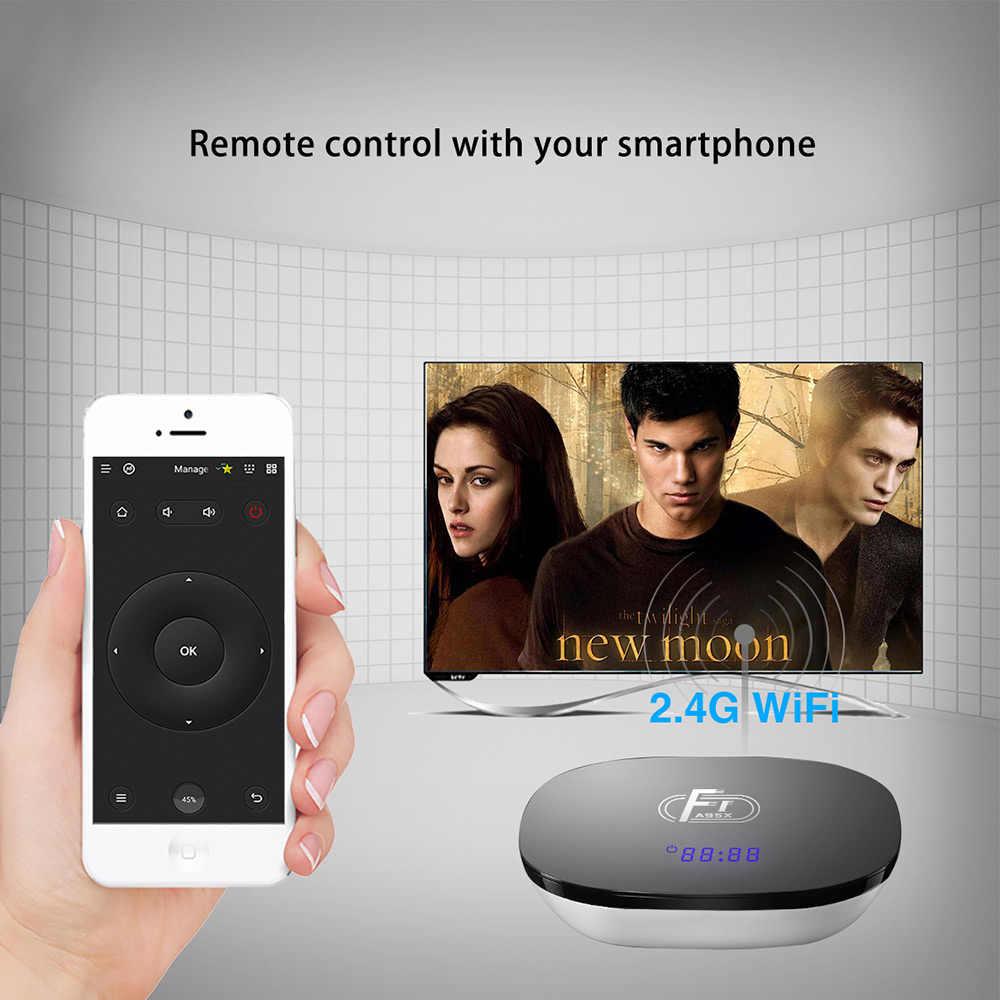 Android 8,1 смарт-ТВ коробка A95X F1 Amlogic S905W 4 ядра, 2 Гб оперативной памяти, 16 Гб встроенной памяти, Поддержка H.265 4 K 2,4 GHz WiFi медиаплеер Декодер каналов кабельного телевидения Youtube
