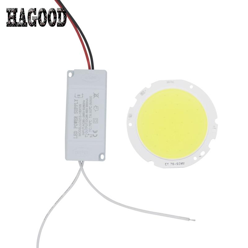 10pcs 3W 5W 7W 10W 12W 15W 20W 25W 30W LED COB chip board panel for led spotlight led lamp+plastic shell LED power supply driver