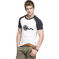 IDzn Retro Movie Projector Clipart Panda To Show The Movie Summer T Shirt Men O Neck