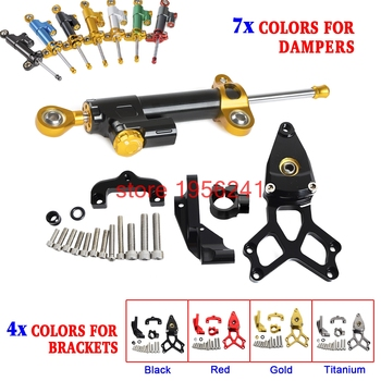 Motorcycle Adjustable Steering Damper Bracket Mounting Kit For Honda CBR1000RR ABS SP 2008-2016 09 10 11 12 13 14 15 CBR1000 RR