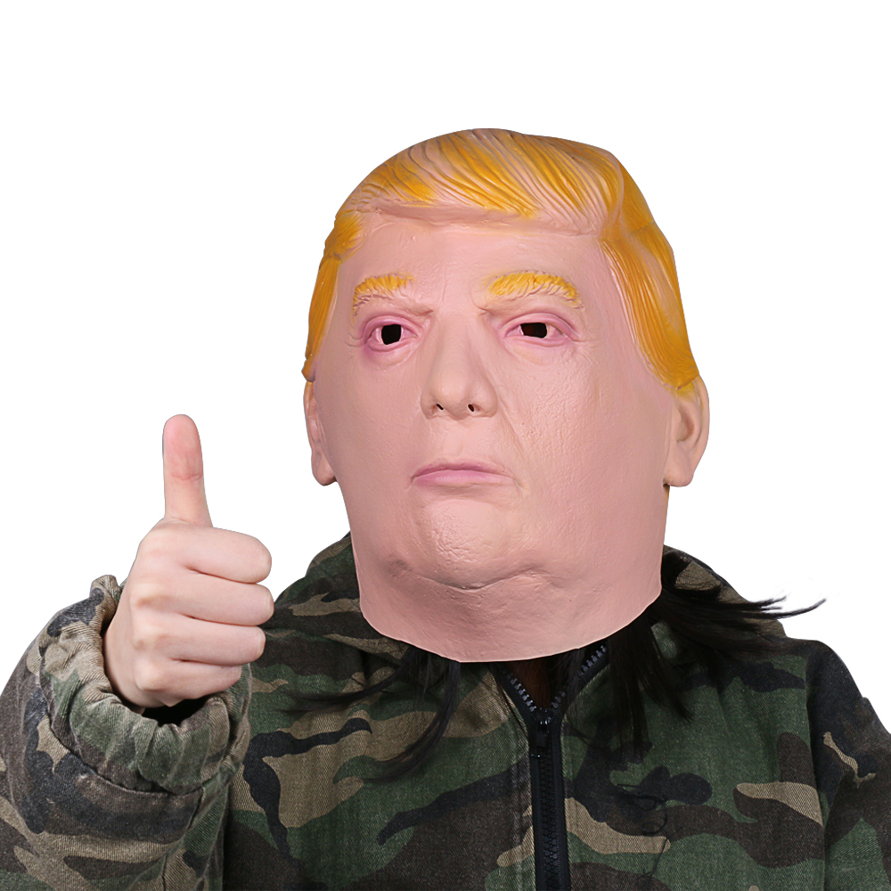 1PC Donald Trump Mask Billionaire Presidential Costume Latex Cospaly Mask For Halloween Party Decorations Ornament (3)