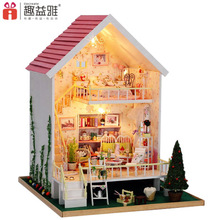 Hot Sale DIY Doll House Wooden Miniatura Doll Houses