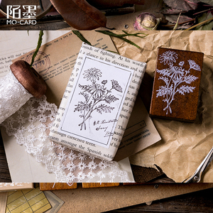 Image 3 - XINAHER בציר יער צמחים ירח קישוט בול עץ גומי בולים עבור כתיבה רעיונות DIY קרפט בול רגיל