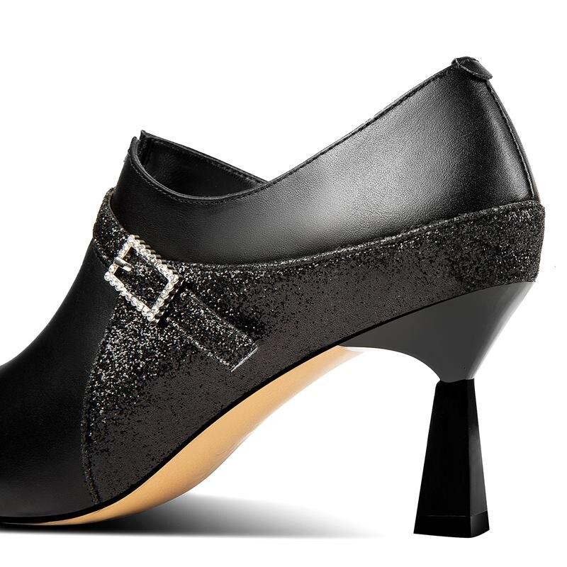 Pour Cuir Yinkoget Mélangées Picture De Marque As Picture Chaussures Mode Véritable Hauts À Bout Pointu Nouvelle Talons Dames as Femmes Couleurs wkZOPuTXi