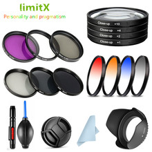 UV CPL ND FLD Graduated Close Up Filter & Lens Hood Cap for Canon EOS 1300D 3000D 2000D 4000D Rebel T7 T100 with 18 55mm lens