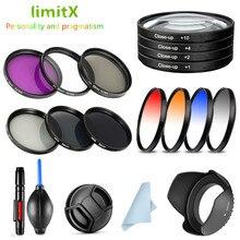 UV CPL ND FLD mezun yakın filtre ve Lens kapağı için Canon EOS 1300D 3000D 2000D 4000D Rebel t7 T100 18 55mm lens ile