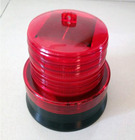 Red lampshade Solar Warning lights Tower Traffic LED Strobe light 12PCS