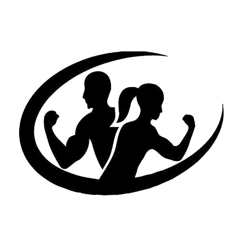 13.5CM*9.5CM Fashion Fitness Sport Workout Body Silhouette ...