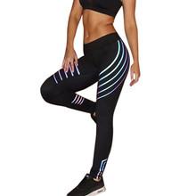 amp 35 legginsy damskie legginsy damskie talia legginsy fitness s bieganie elastyczne spodnie sportowe na siłownię spodnie legginsy fitness Jeggings tanie tanio Kostek STANDARD Denim WOMEN Pani urząd Poliester Drukuj