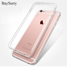 цена на Phone Case For iPhone 7 8 Plus Soft Transparent TPU Full Cover For iPhone X Case 5 5S SE 6 Plus 6S Plus 7 Clear Silicone Cases