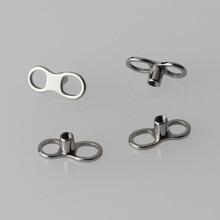 20 adet/grup G23 Titanyum Yedek Dermal Çapa 2 Delik Tabanı Piercing göbek takısı