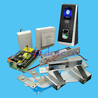 DIY Face Access Control System Kit Double Glass Door Access Control Set Kit+Eletric Bolt Lock Two Door Access Control System