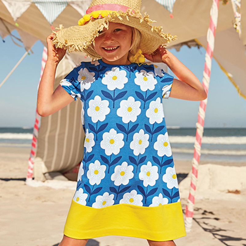 Children Girls Dress Clothes Summer Floral Dresses Clothing Vestidos Kids Princess Costume Beach Party Holiday Baby Girl Dress kids long sleeve princess girl dress children clothing print party girls dresses summer autumn 2016 costume christmas clothes
