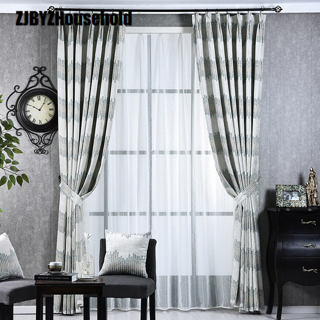 Simple Modern Curtain Fabric Shading Curtains For Living Dining Room Bedroom