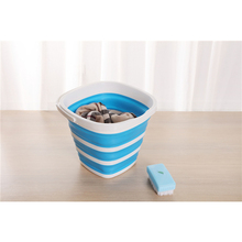 10LFolding Silicone Bucket for Collapsible Fishing Car Wash Outdoor Square Barrel Bathroom Kitchen outdoor