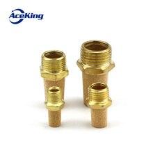 Pneumatic brass muffler convex head BSL M5 1/8