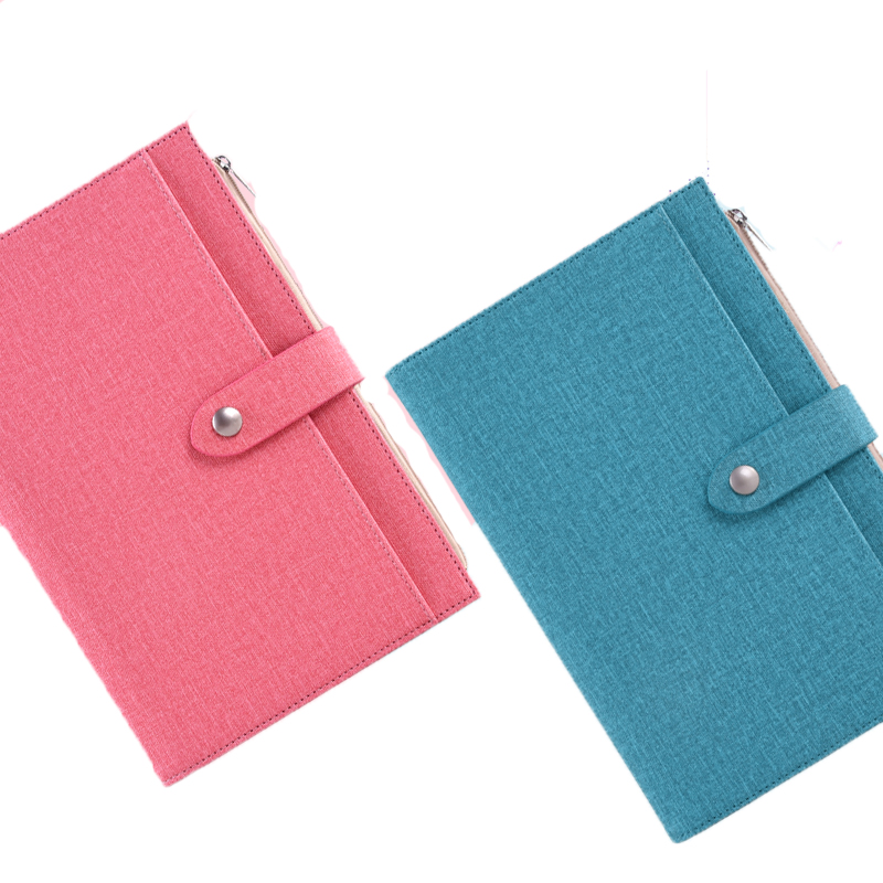 Multifunctional Zipper Wallet Notebook Compact And Lovely Portable Notebook