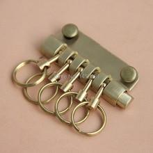free shipping Detachablekey bag hook key buckle DIY handmade bag buckle brass bag  leather accessories key cases wallet Hardware