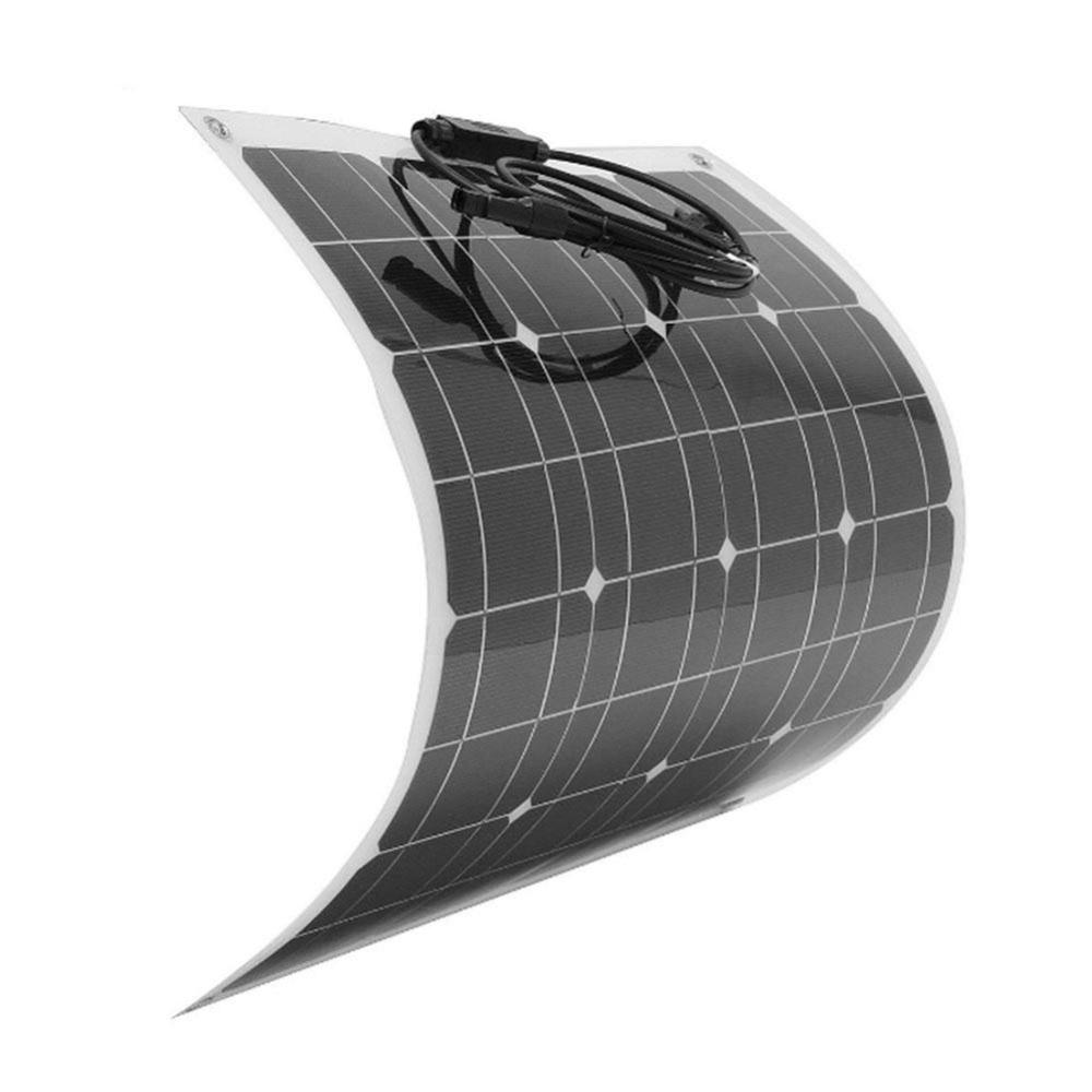BCMaster High quality efficiency 12v 50w Sunpower Soft Semi Flexible Solar Panel Monocrystalline solar battery cells on sale sunpower solar cell 21 8 24% high efficiency solar panel cells 150pcs dog bone connector 150pcs for diy flexible solar panel