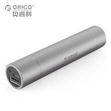 ORICO 2600 мАч Премиум Алюминий Ultra Slim Губная помада-Размер Портативный Зарядное устройство Запасные Аккумуляторы для телефонов резервного копирования Батарея упаковке с фонариком (серый)