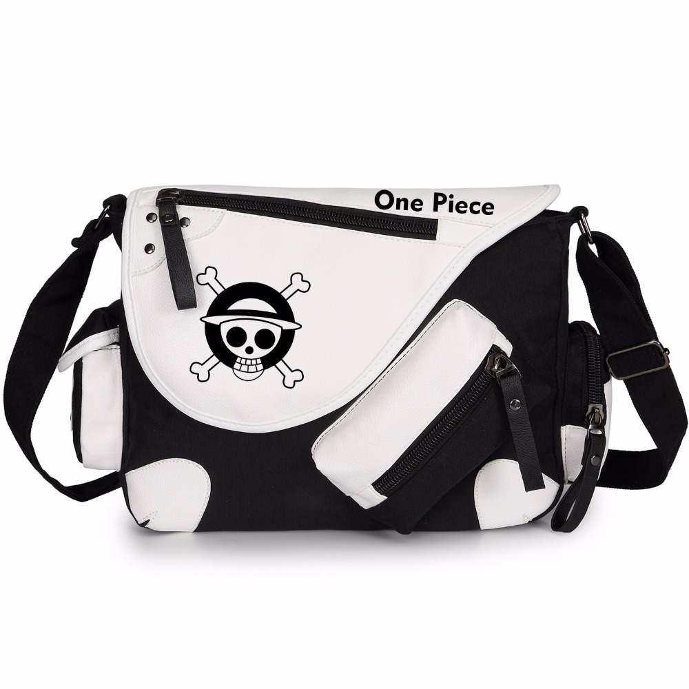 585a1f80eb6 Anime One Piece Luffy Fluorescence Messenger Bags for Teenage Boys Girls  School Shoulder Bags Women Men ...