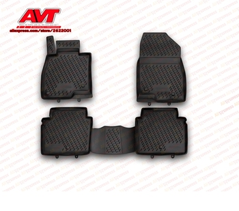 Floor mats for Mazda 6 2012-  4 pcs rubber rugs non slip rubber interior car styling accessories