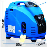 Movable domestic trailer 3kw digital conversion four stroke gasoline generator 220V small all copper low noise camping