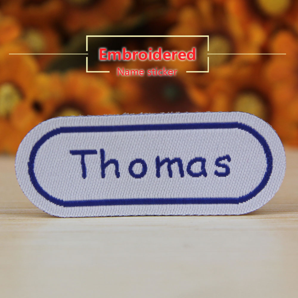 FREE SHIPPING Name Stickers For Clothes Water Proof Decals Washable Name Tags Children Stickers Embroidery Labels