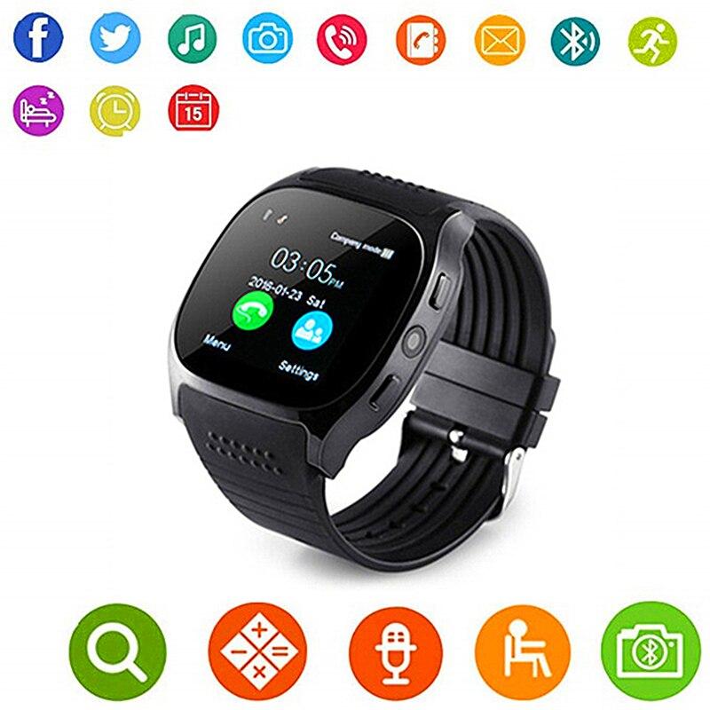 [Aaliyah] Dispositivo de vestir inteligente T8 Smart watch GPS tarjeta SIM TF 0.3MP Cámara compatible con IOS Androidxiaomi