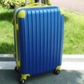 KUNDUI hombres y mujeres maleta bolsa, ABS + PC trolley case, nuevo estilo, color del golpe Bolsas de equipaje de viaje, bloqueo, silencio, 20 24 pulgadas