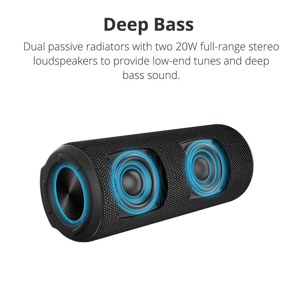 Tronsmart T6 Plus Bluetooth Speaker 40W Portable Speaker Deep Bass Soundbar with IPX6 Waterproof, Power Bank Function SoundPulse 3