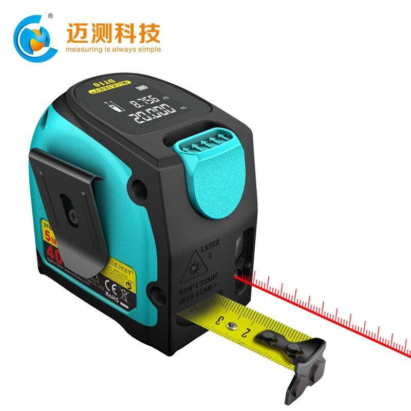 With Measuring Tape LCD Display Laser Measuring 1 DT10 In Measure Laser Digital Tools Rangefinder 2
