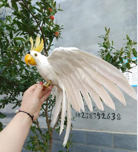 big new simulation wings parrot toy plastic&fur white parrot model gift about 45x60cm big new red wings parrot toy polyethylene