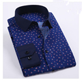 Clearence Sale Floral Men Shirt Long Sleeve Regular Fit Fashion Brand Camisa Masculina