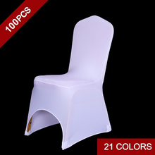 100pc/ Lot Wedding Iron Free Chair Covers Stretch Spandex Wedding Party  Chair Covers For