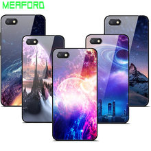 For Xiaomi Redmi 6A Case Tempered Glass Planet Space Cover Glass Back Case for Xiaomi Redmi 6A Redmi 6 A 2GB 16GB 32gb Coque(China)