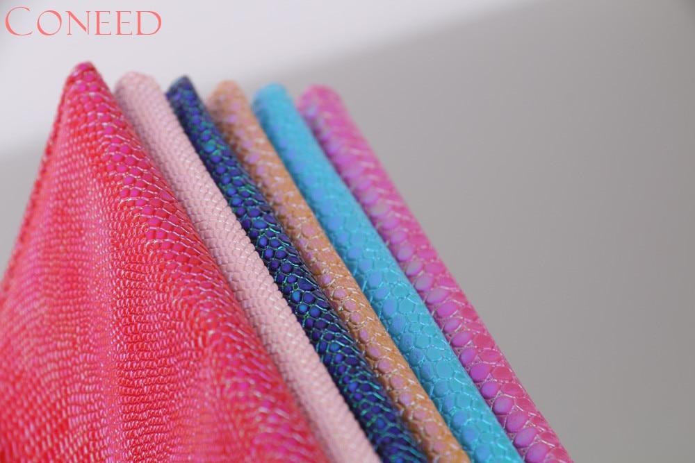 CONEED 6 Renk parlak kertenkele tahıl pasaport kapağı Mavi - Cüzdanlar - Fotoğraf 6