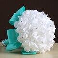 Свадебный Букет 2017 Дешевые Невесты Невесты Искусственные Руки с Цветами в Руках Для Партия Украшения Свадебные Букеты