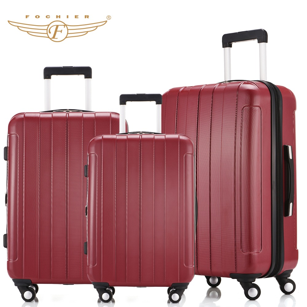 ABS PC 20 24 28 Red Waterproof Lightweight Hardside Travel Carry on Luggage Suitcase 1 Piece