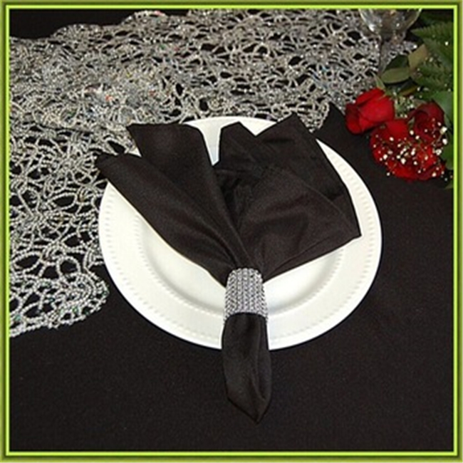 Marious Brand 45*45cm 100pcs hotel satin table napkin wedding cheap for sale free shipping