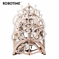 4 Kinds DIY Laser Cutting 3D Mechanical Model Wooden Puzzle Game Assembly Toy Gift for Children Adult for Dropshipping