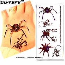 Nu-TATY Spider Queen 3d Temporary Tattoo Body Art Flash Tattoo Stickers 19x9cm Waterproof Styling Tatoo Home Decor Wall Sticker