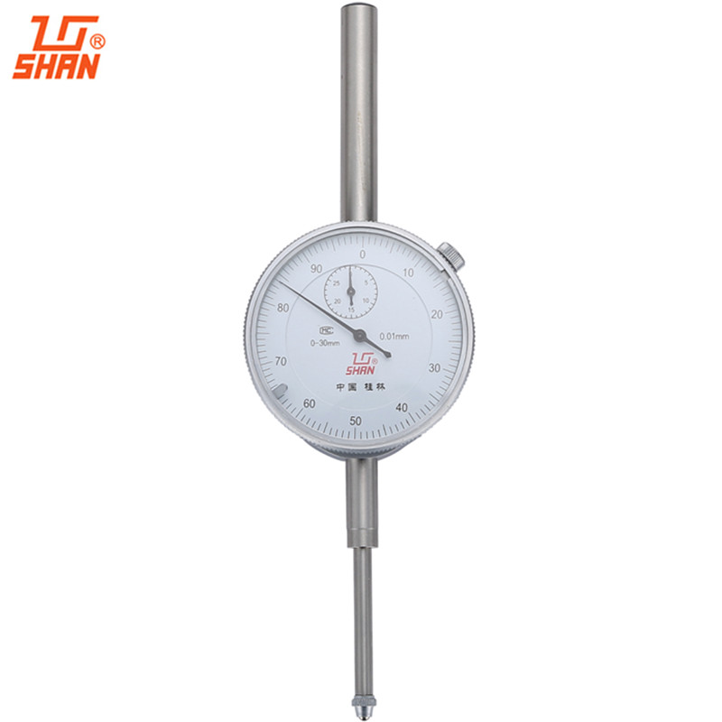 все цены на SHAN Dial Indicator 0-30mm/0.01mm Dial Test Gauge Large Measuring Range Aluminum Body Micrometer Precision Tools онлайн