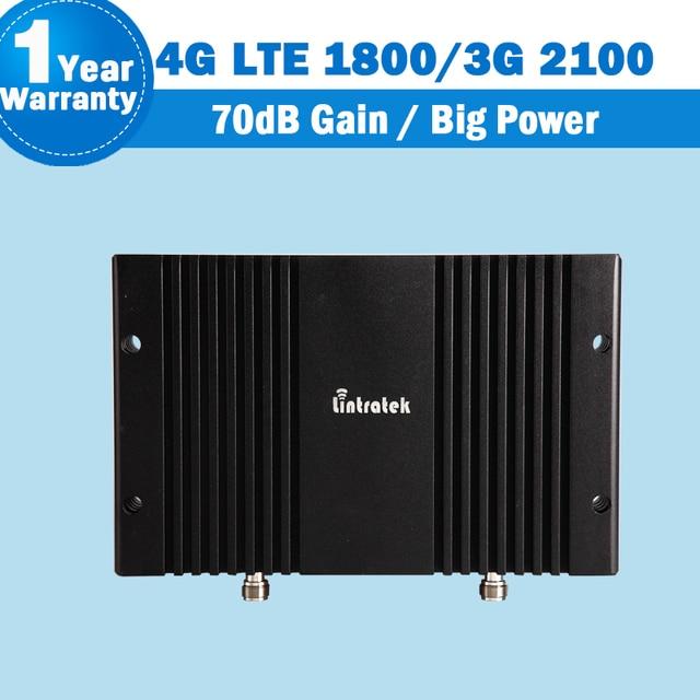2G 3G 4G Mobile Phone Signal Booster 70dB GSM LTE 1800 3G WCDMA 2100 Dual Band Amplificador de Celular 3G 4G LTE Celular repetidor