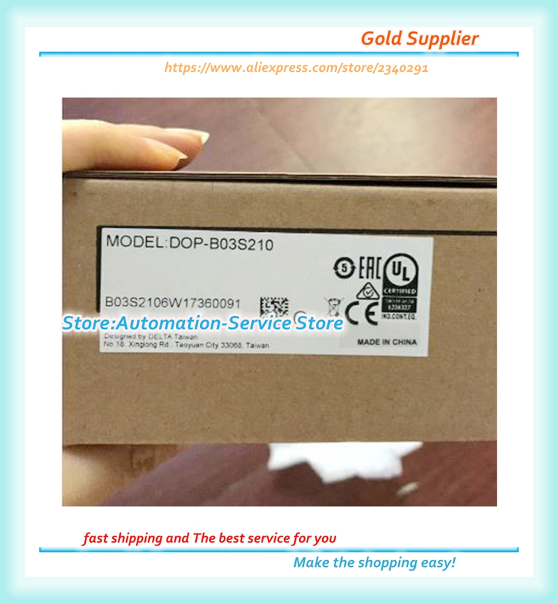 New Box DOP-B03S210 , DOP-B03E211 Updated To DOP-103BQ , DOP-B03E211 Updated To DOP-103WQ Delta 4.3